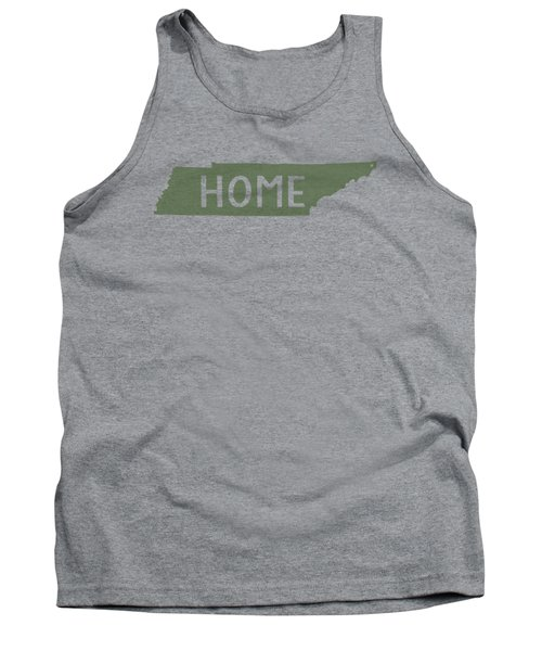 Tank Top featuring the digital art Tennessee Home Green by Heather Applegate