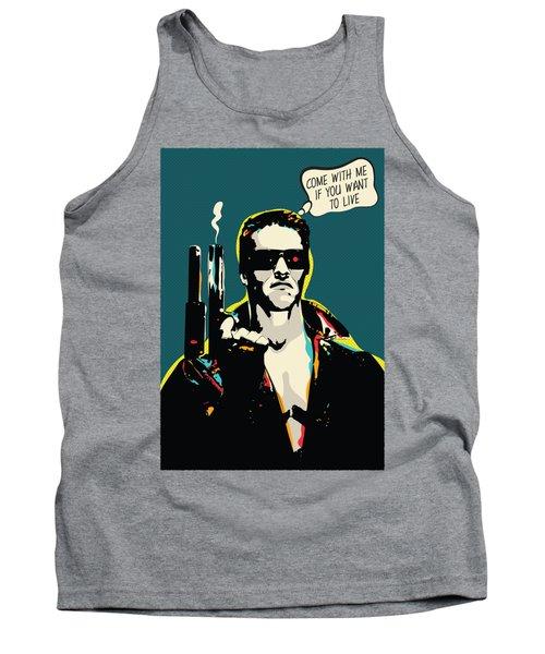Terminator Movie Quote Pop-art Tank Top
