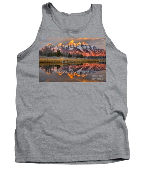 Teton Mountains Sunrise Rainbow Tank Top