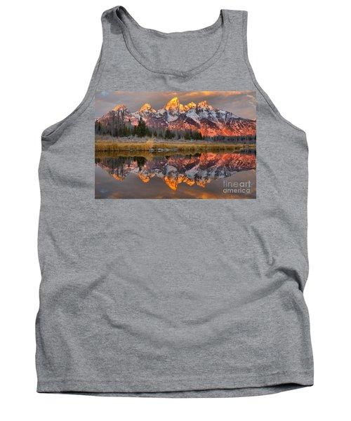 Teton Mountains Sunrise Rainbow Tank Top
