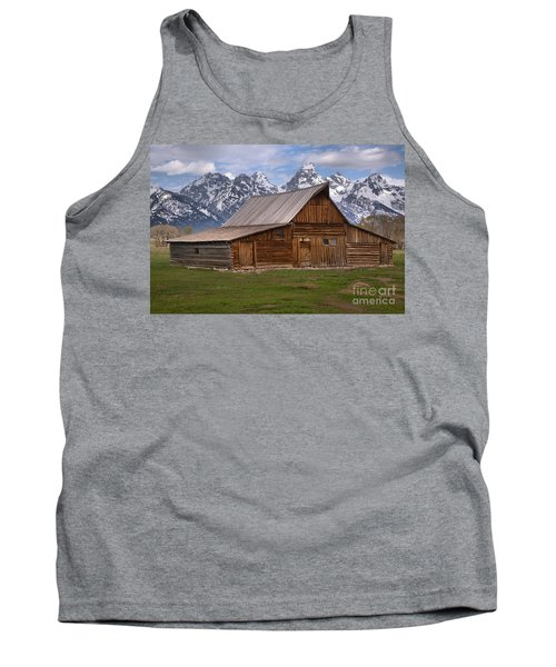 Tetons Towering Over The Moulton Barn Tank Top by Adam Jewell