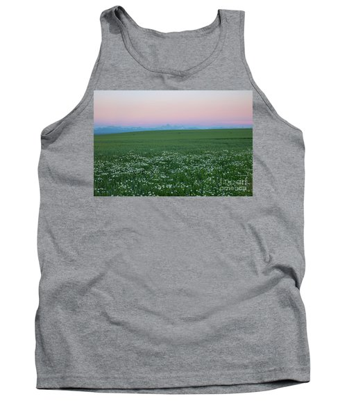 Tetons With Daisies Tank Top