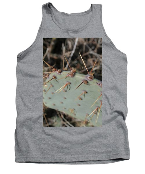 Tank Top featuring the photograph Texas Spikes by Laddie Halupa