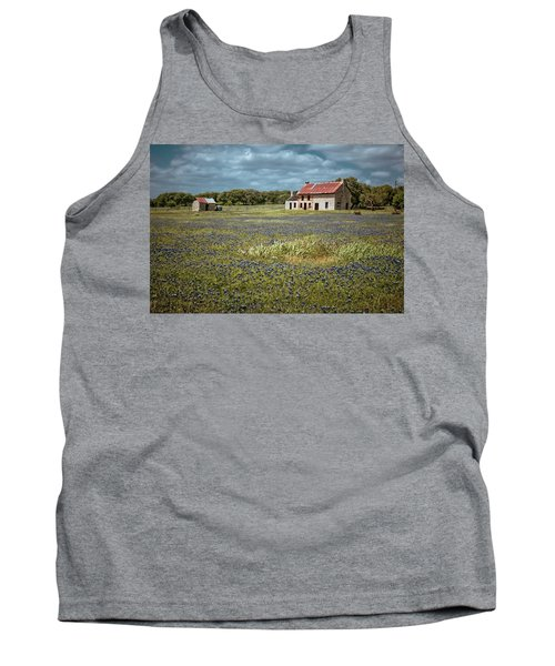 Tank Top featuring the photograph Texas Stone House by Linda Unger