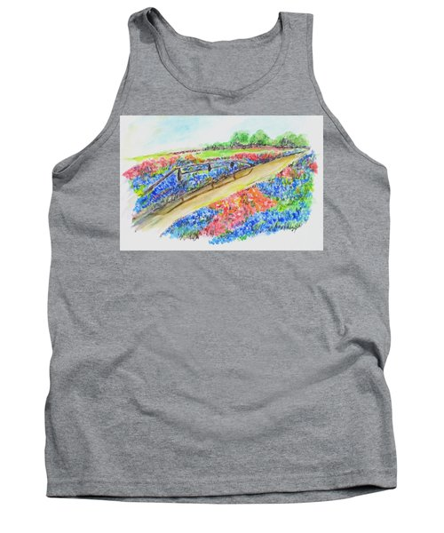 Texas Wild Flowers Tank Top by Clyde J Kell