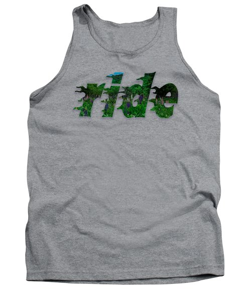 Text Lupen Ride Tank Top by Mim White