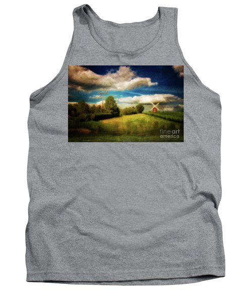 Thaxted With Millpond Tank Top by Jack Torcello