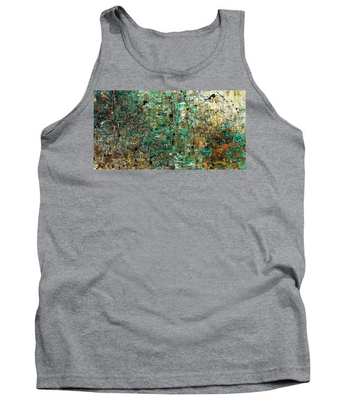 Tank Top featuring the painting The Abstract Concept by Carmen Guedez