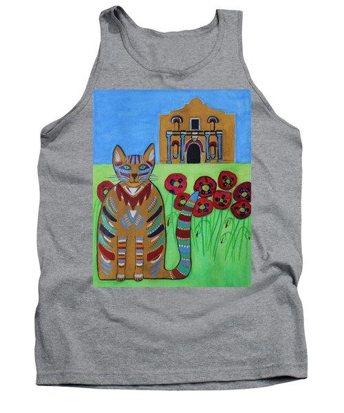 the Alamo Cat Tank Top