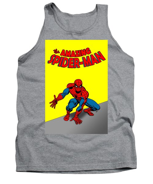Tank Top featuring the painting The Amazing Spider-man by Antonio Romero