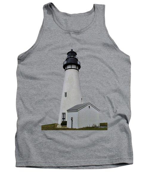 The Amelia Island Lighthouse Transparent For Customization Tank Top