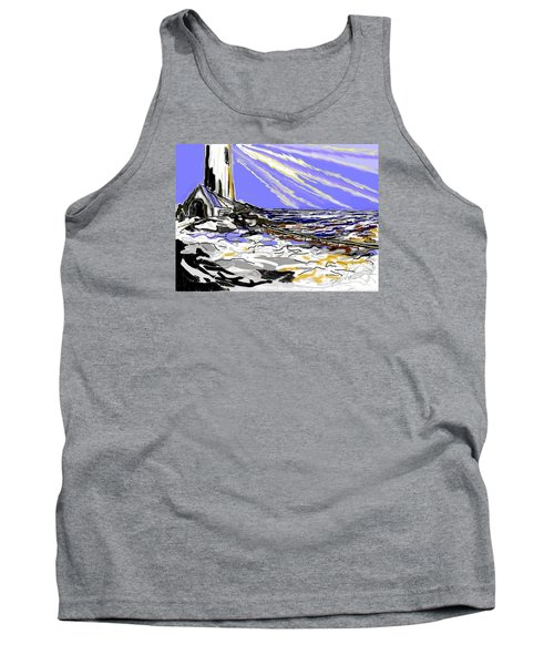 Tank Top featuring the drawing The Beacon by Desline Vitto