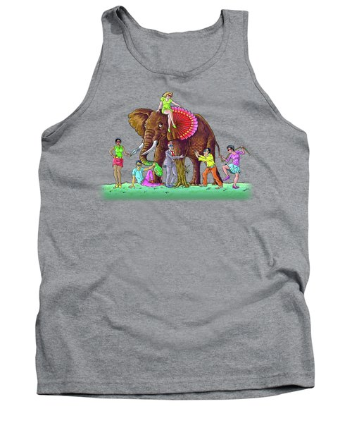The Blind And The Elephant Tank Top by Anthony Mwangi