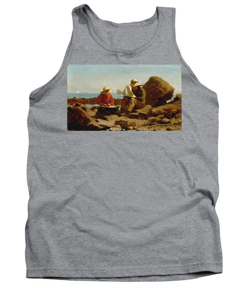 Tank Top featuring the painting The Boat Builders - 1873 by Winslow Homer