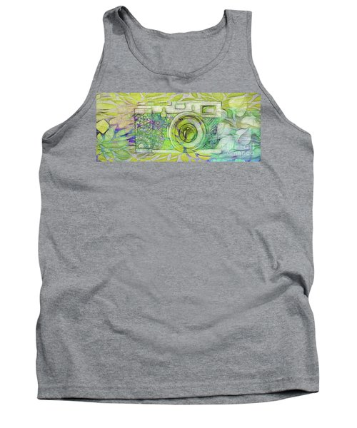 Tank Top featuring the digital art The Camera - 02c5bt by Variance Collections