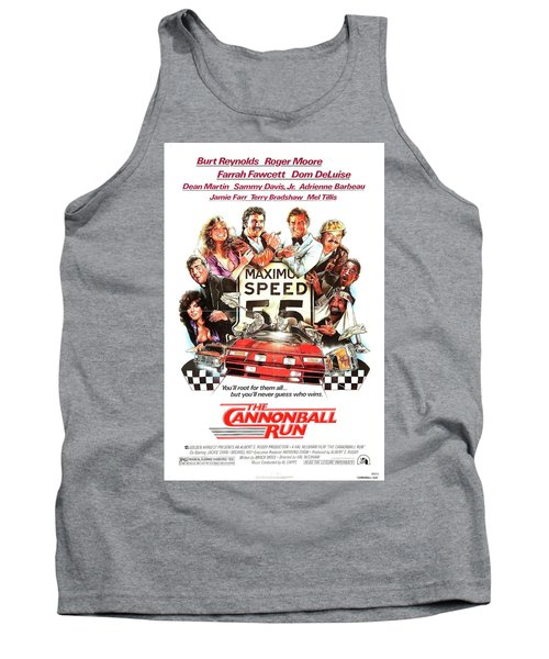 The Cannonball Run Retro Movie Poster  Tank Top