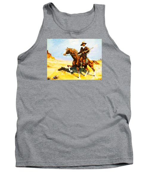 Tank Top featuring the painting The Cavalry Scout by Al Brown