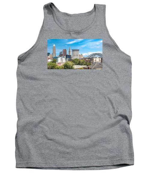 Tank Top featuring the photograph The Cleveland Skyline by Brent Durken