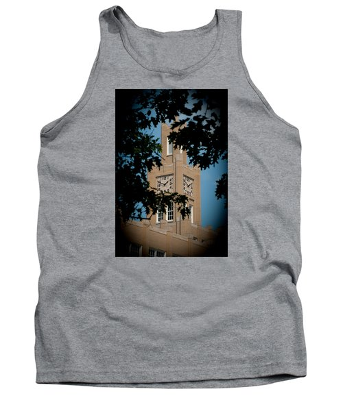 Tank Top featuring the photograph The Clock Tower by Mark Dodd