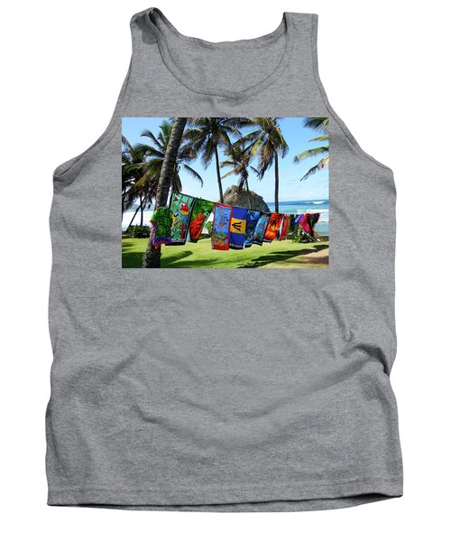Tank Top featuring the photograph The Colors Of Barbados by Kurt Van Wagner