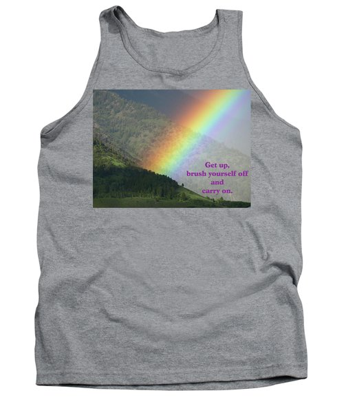 The Colors Of The Rainbow Carry On Tank Top by DeeLon Merritt
