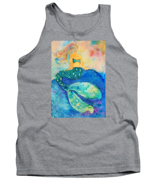 The Contemplation Of A Mermaid Tank Top by Ann Michelle Swadener