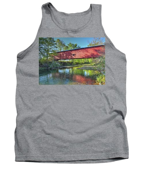 The Crooks Covered Bridge - Sideview Tank Top by Harold Rau