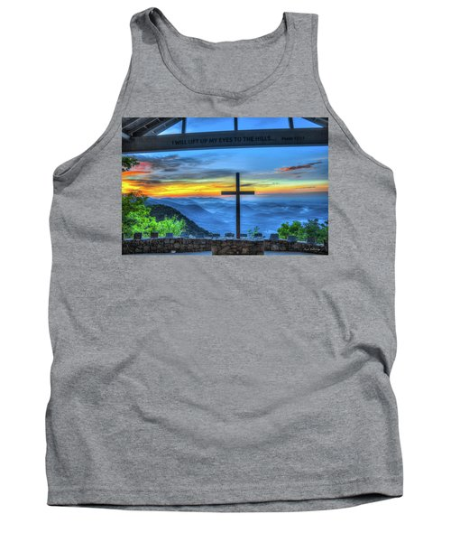 The Cross Sunrise At Pretty Place Chapel Tank Top