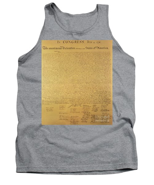 The Declaration Of Independence Tank Top