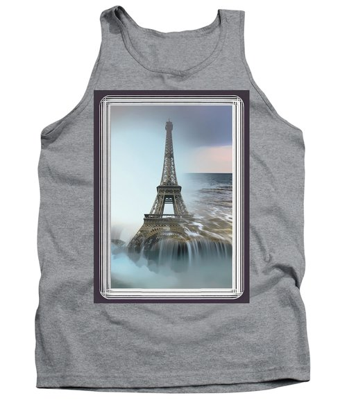 The Eiffel Tower In Montage Tank Top