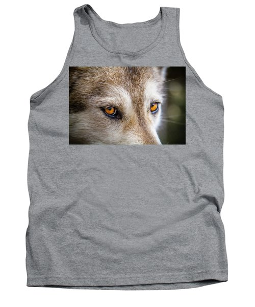 Tank Top featuring the photograph The Eyes Of A Great Grey Wolf by Teri Virbickis