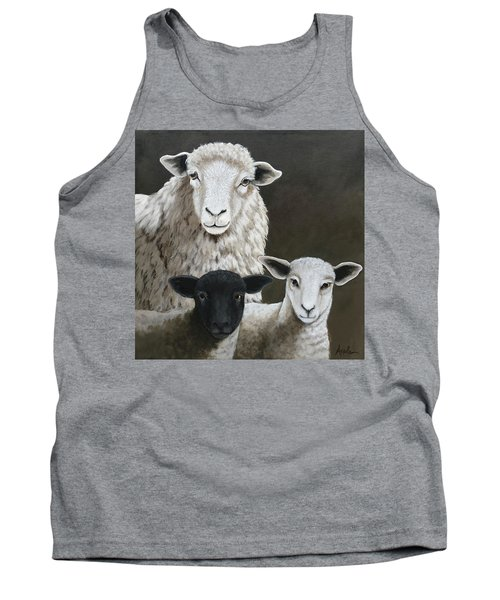 The Family - Sheep Oil Painting Tank Top