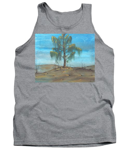 Tank Top featuring the painting The Feather Tree by Pat Purdy