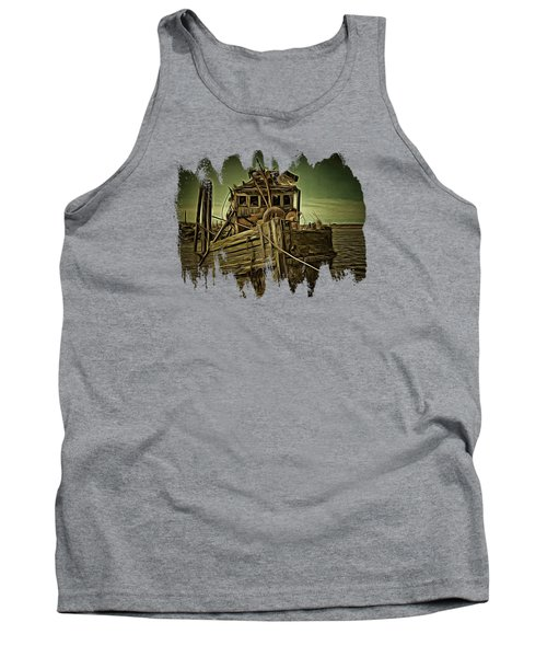 Tank Top featuring the photograph Mary D. Hume Shipwreak by Thom Zehrfeld