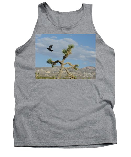 Tank Top featuring the photograph The Flight Of Raven. Lucerne Valley. by Ausra Huntington nee Paulauskaite