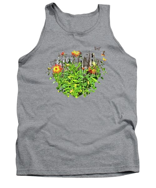 The Flowers Along The Fence  Tank Top