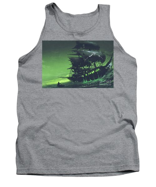 Tank Top featuring the painting The Flying Dutchman by Tithi Luadthong