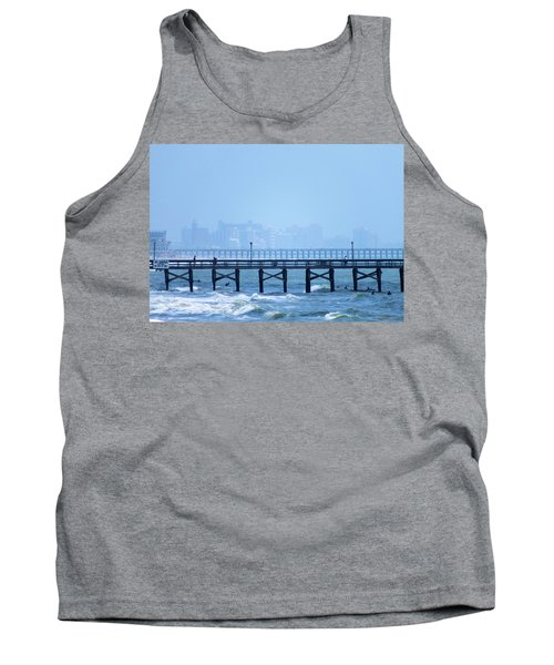 Tank Top featuring the photograph The Fog And Swirling Waters by Cathy Harper