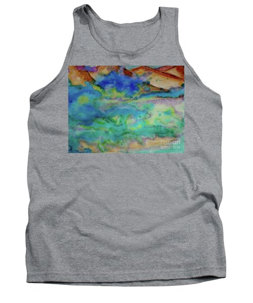 Tank Top featuring the painting The Fog Rolls In by Kim Nelson