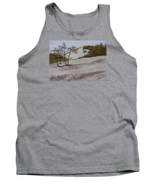 Tank Top featuring the painting The Four Sisters At Stone Mountain by Joel Deutsch