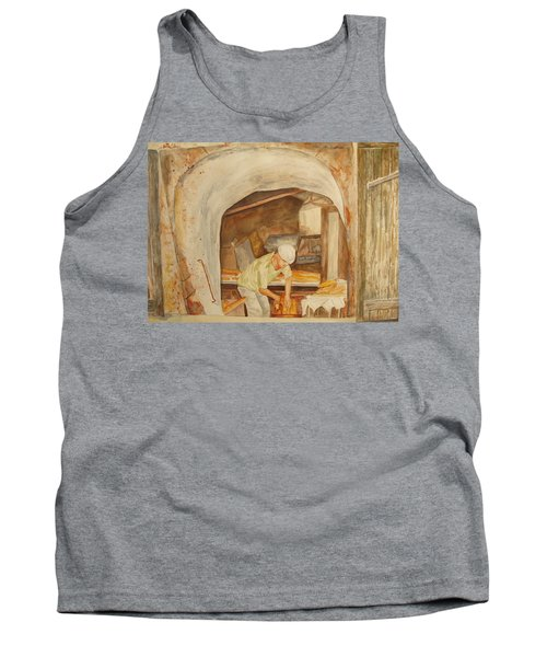 Tank Top featuring the painting The French Baker by Vicki  Housel
