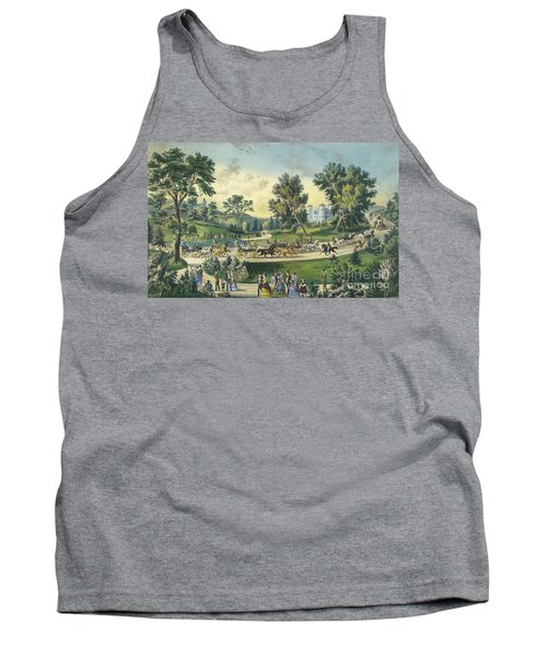 The Grand Drive, Central Park, New York, 1869 Tank Top