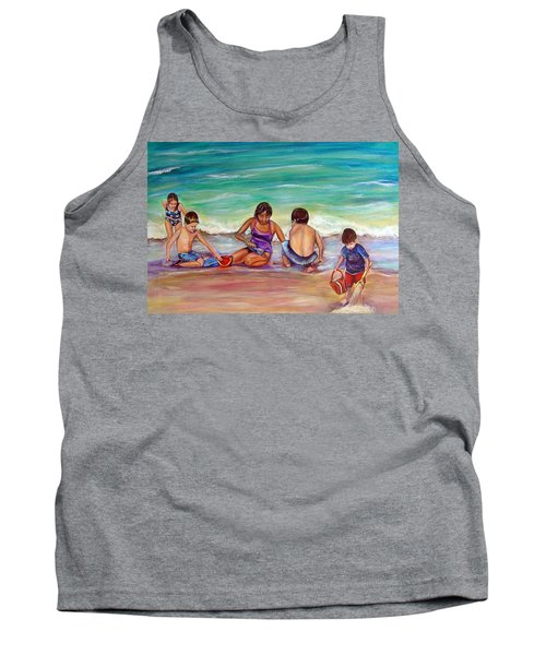 Tank Top featuring the painting The Grands by Patricia Piffath