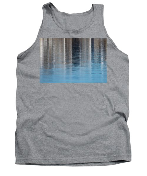 Tank Top featuring the photograph The Harbor Reflects by Karol Livote