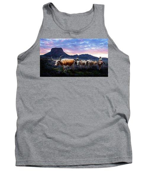 Texas Longhorns Blue Tank Top