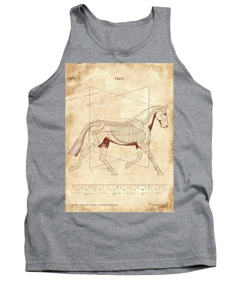The Horse's Trot Revealed Tank Top by Catherine Twomey