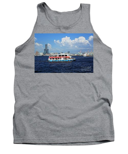 Tank Top featuring the photograph The Kaohsiung Harbor Ferry Crosses The Bay by Yali Shi