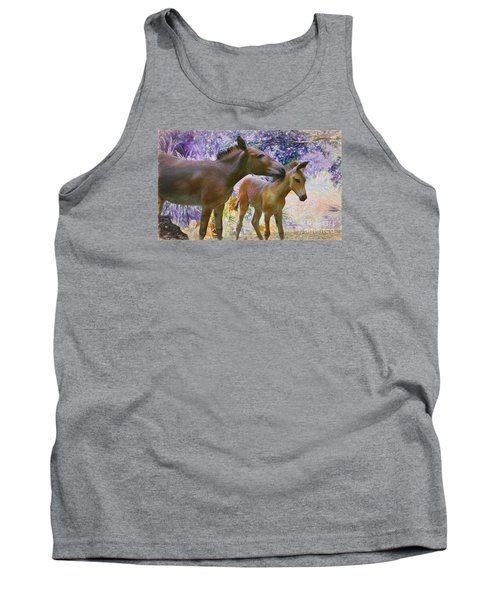 Tank Top featuring the painting The Kiss Edition 2 by Judy Kay