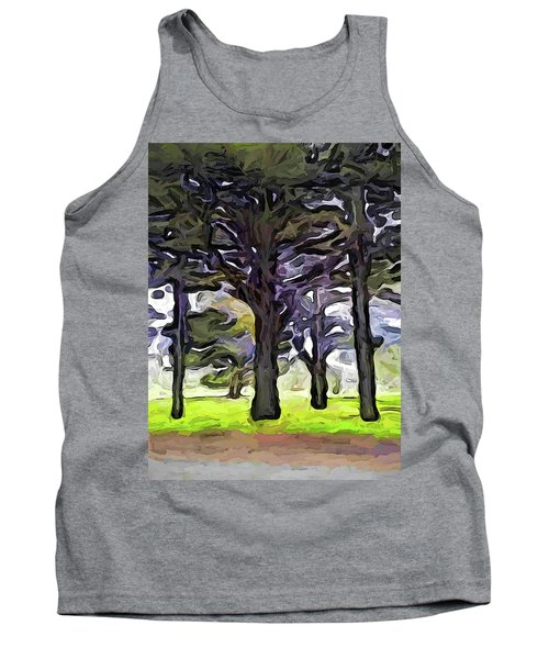 The Landscape With The Trees In A Row Tank Top