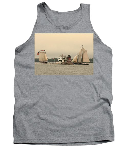 The Lighthouse At Rockland Tank Top